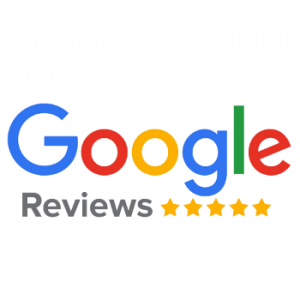 Google reviews logo with 5 star review below